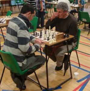 My chess coach Bob playing Thetford