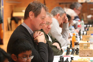 Playing at 32nd Bury St Edmunds Chess Congress Minor section 2014